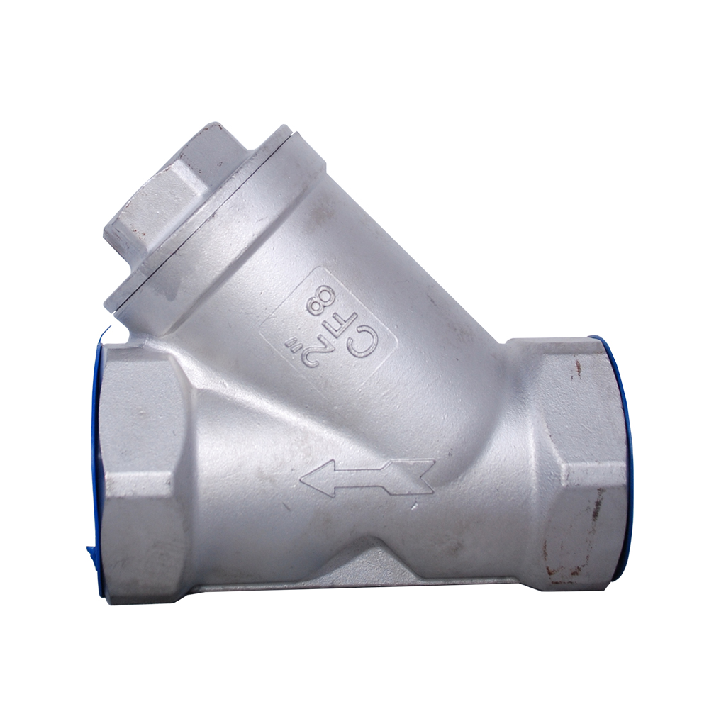 STAINLES STEEL Y TYPE THREADED CHECK VALVE WITH SPRING (316)