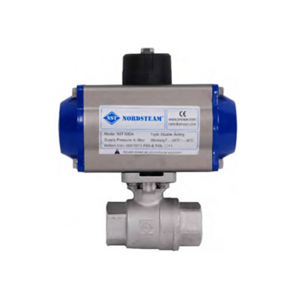 BRASS BALL VALVES WITH PNEUMATIC ACTUATOR