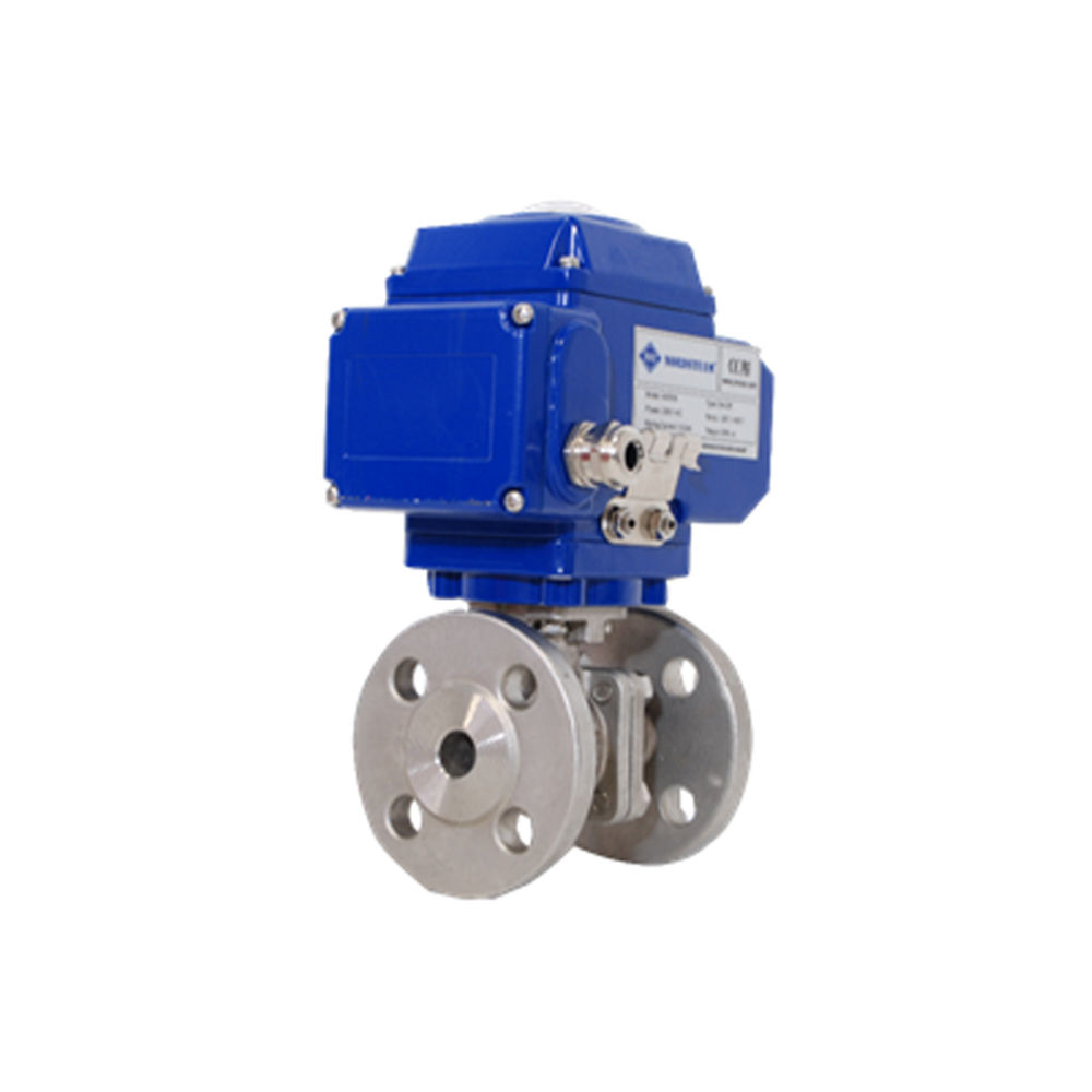 STAINLESS STEEL 304/316 FULL PORT PN16 FLANGED 2- PC BALL VALVE WITH ELECTRIC ACTUATOR