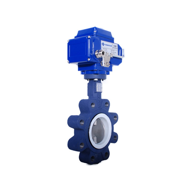 LUG TYPE PTFE BUTTERFLY VALVES WITH ELECTRIC ACTUATOR
