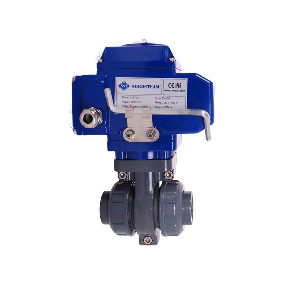 PVC BALL VALVES WITH ELECTRIC ACTUATOR