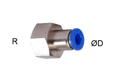 PUSH IN FITTINGS FEMALE THREAD
