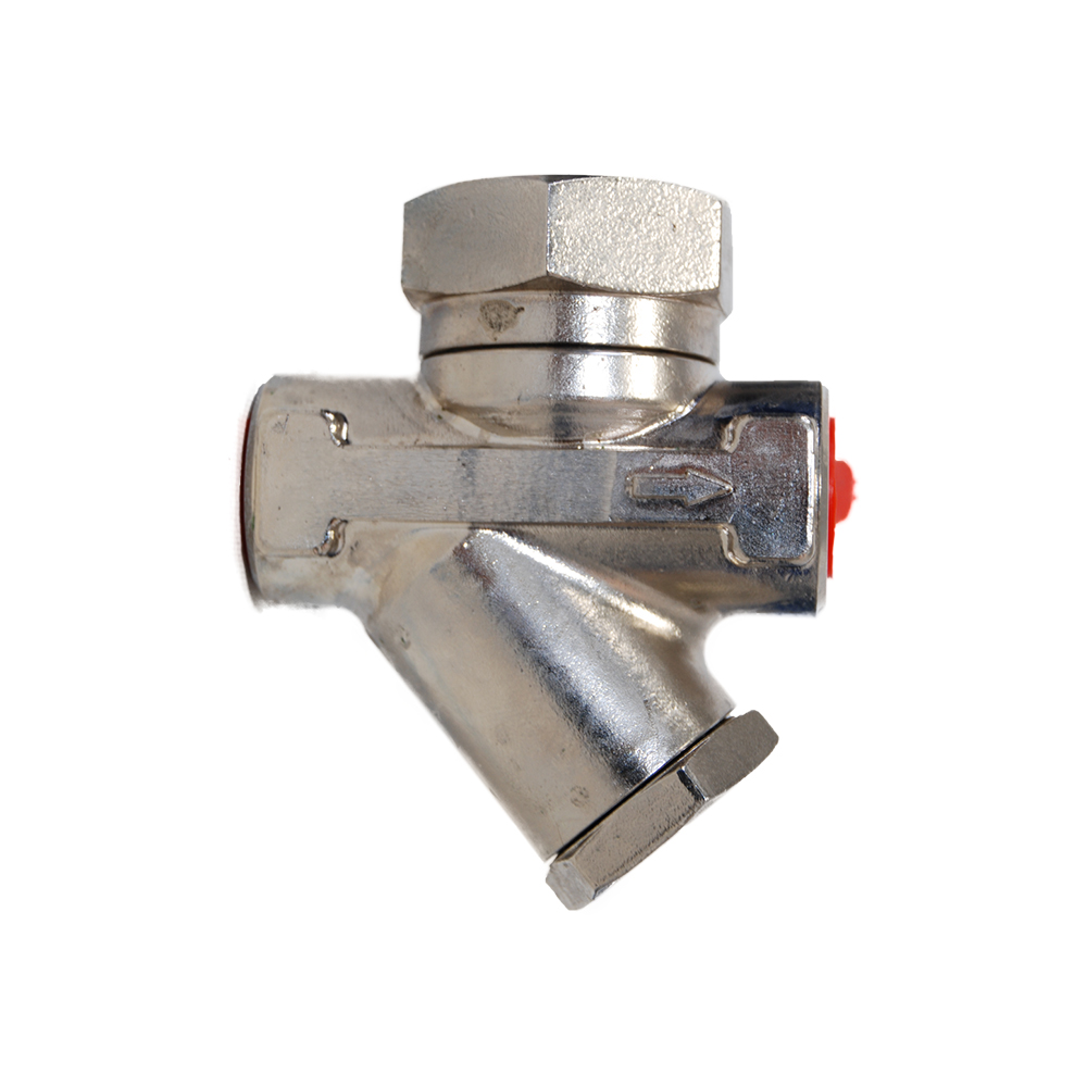 STAINLESS THERMODYNAMIC STEAM TRAP WITH STRAINER