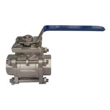 3 PC STAINLESS FULL PORT HIGH PAD BALL VALVE 1000 PSI WITH SOCKET AND THREAD (304 / 316)