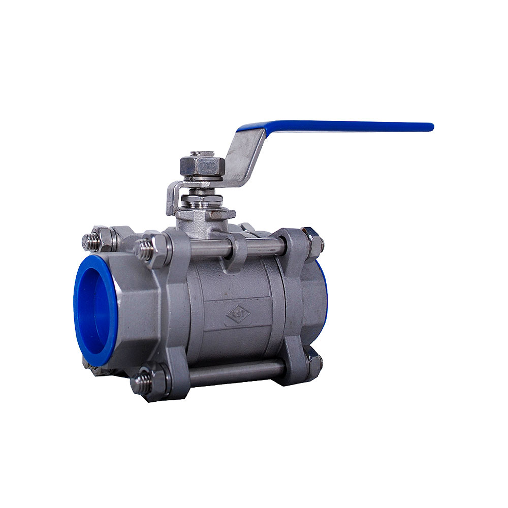 3 PC STAINLESS FULL PORT BALL VALVE 1000 PSI WITH SOCKET AND THREAD (304 / 316)