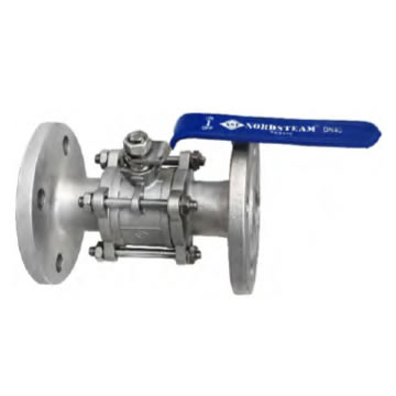 STAINLESS QUALITY FULL PORT PN40 FLANGED 3 PC BALL VALVE DIN 3202 F1 (316)