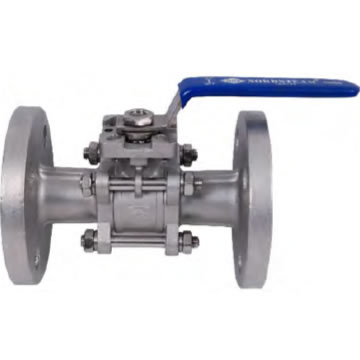 STAINLESS QUALITY FULL PORT HIGH PAD FLANGED 3 PC BALL VALVE DIN 3202 F1 (316)