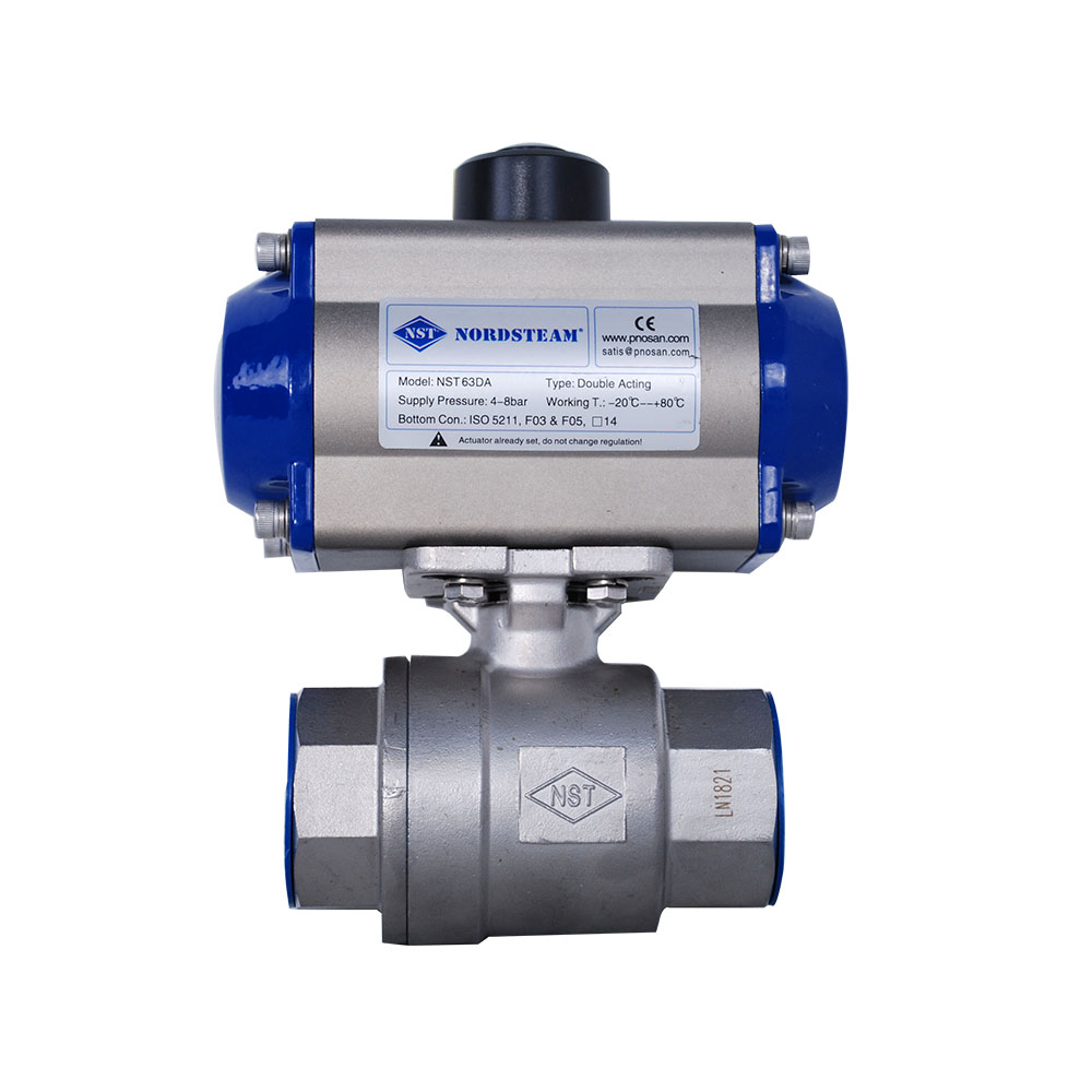 STAINLESS STEEL BALL VALVES WITH PNEUMATIC ACTUATOR