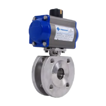 MONOBLOCK BALL VALVES WITH PNEUMATIC ACTUATOR