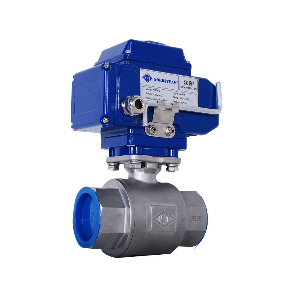 STAINLESS STEEL BALL VALVES WITH ELECTRIC ACTUATORS