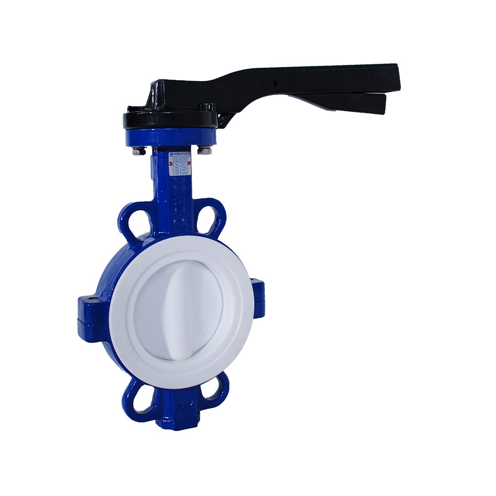 WAFER TYPE PTFE LINED BUTTERFLY VALVES