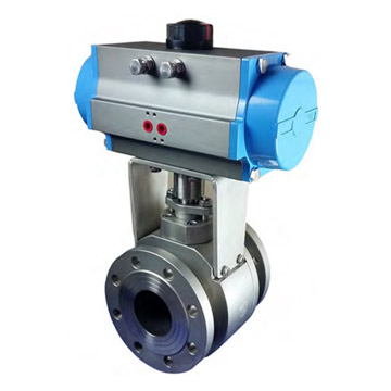 PNEUMATIC OPERATED FORGED V NOTCH BALL VALVE