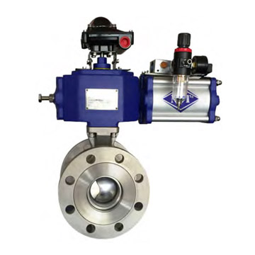 FLANGED SEGMENT BALL VALVE
