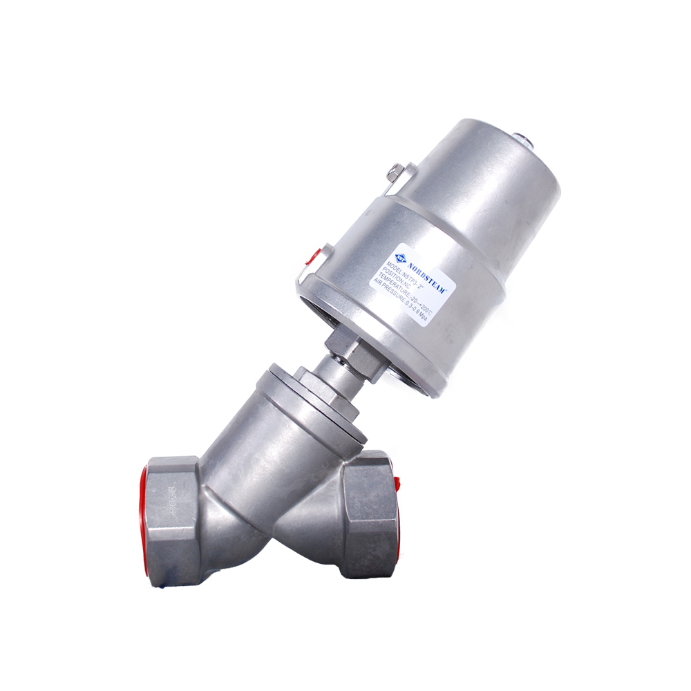SINGLE ACT STAINLESS STEEL ANGLE SEAT VALVES