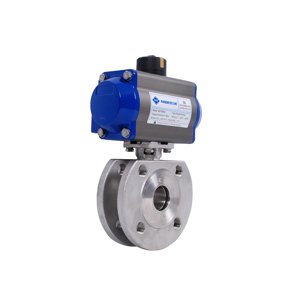 MONOBLOCK BALL VALVES WITH PNEUMATIC ACTUATORS