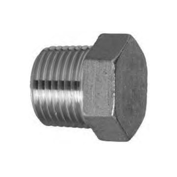 SS HEX BLIND MALE PLUG