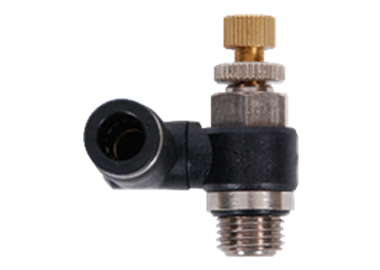 PUSH IN  90 DEGREE SPEED CONTROL VALVE FITTING