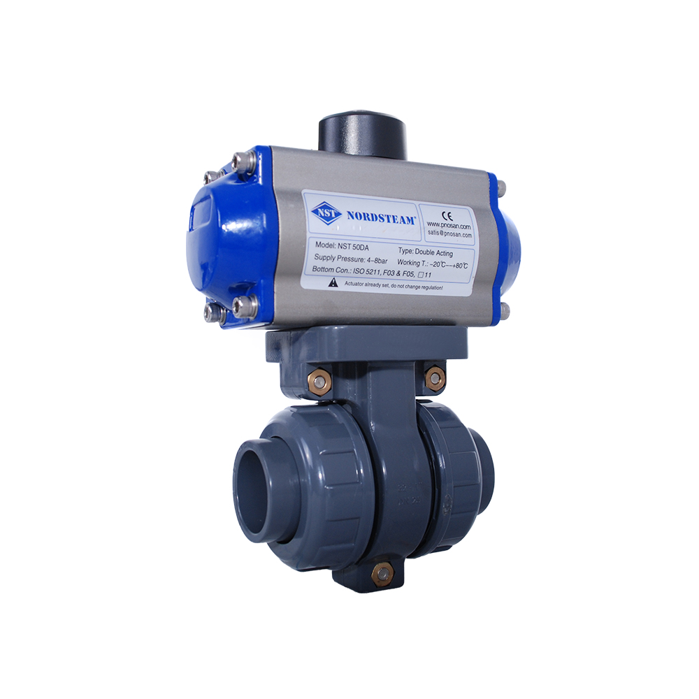 PVC BALL VALVES WITH PNEUMATIC ACTUATOR