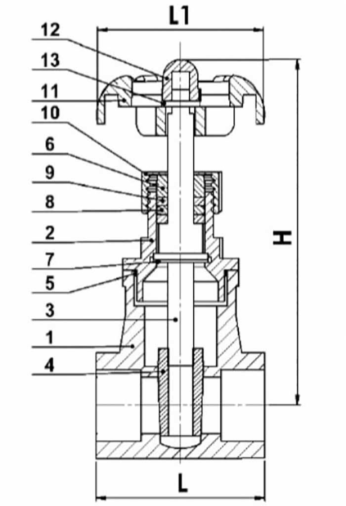 STAINLESS STEEL FULL PORT THREADED GATE VALVE (316)