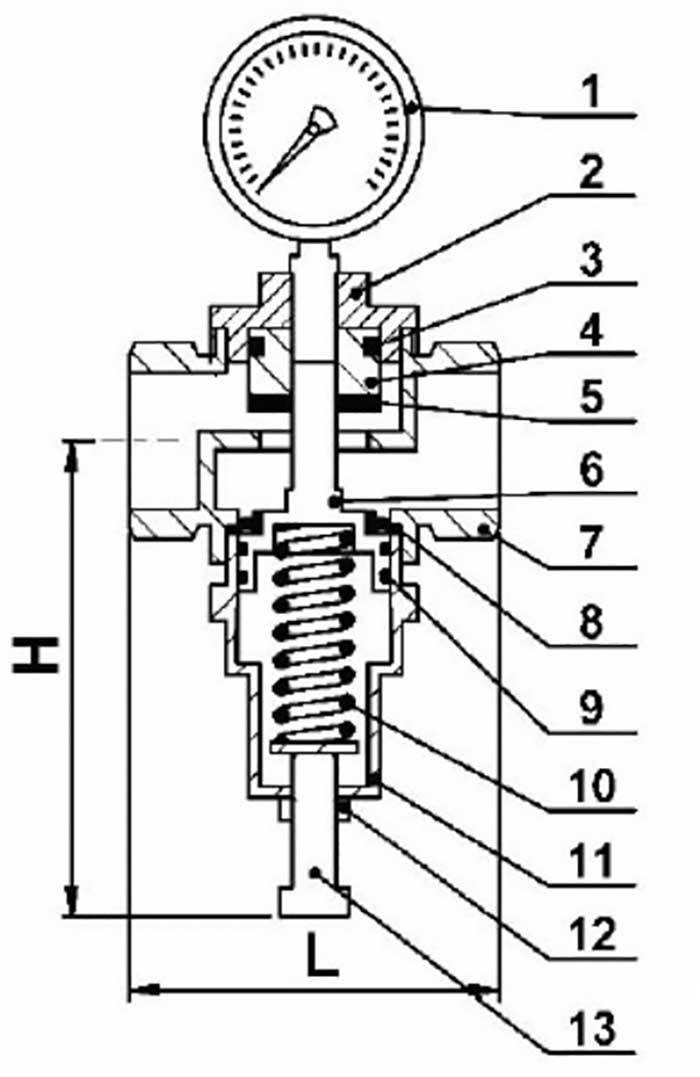 WATER PRESSURE REGULATOR